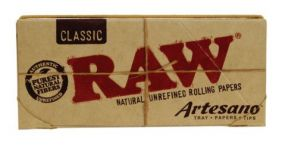 Raw Classic King SIze Slim Artesano Tips & Tray