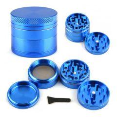 Grinder Polinizador de Aluminio CNC 4 Partes (40mm) Azul
