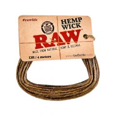 Raw Hemp Wick Mecha Encerada (4m)