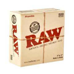 RAW Parchment Paper BHO 8x8cm (500uds.)